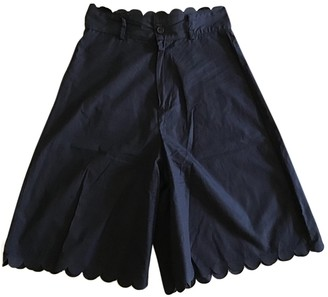 See by Chloe Navy Cotton Shorts