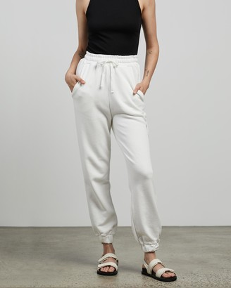 C&M CAMILLA AND MARC - Women's White Sweatpants - Jordan High Waisted Track Pants - Size 6 at The Iconic