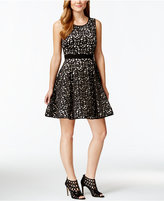 Xscape Evenings Laser-Cutout Fit & Flare Party Dress
