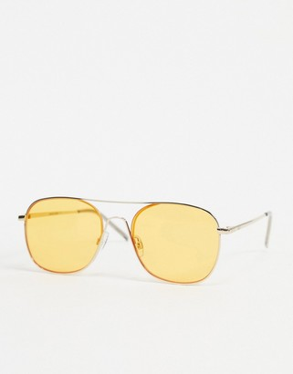 Jack and Jones retro sunglasses with tinted lens