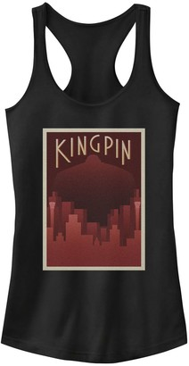 Licensed Character Juniors' Marvel Kingpin Fisk Deco Art Red Hue Poster Tank