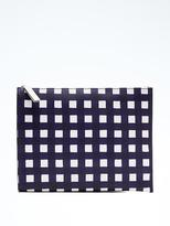 Banana Republic Gingham Large Zip Pouch