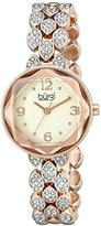 Burgi Women's BUR124RG Swarovski Crystal Accented Faceted Rose Gold Bracelet Watch