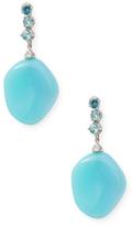 Paolo Costagli 18K White Gold, Apatite, Baroque Laguna & Diamond Earrings