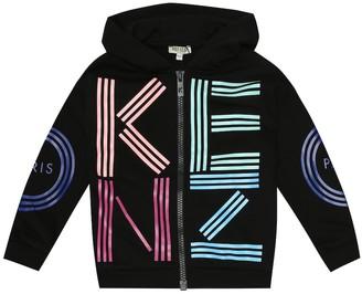 Kenzo Logo cotton zip-up hoodie