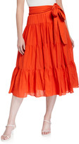 Loup Charmant Demeter Airy Organic Cotton Tiered Skirt