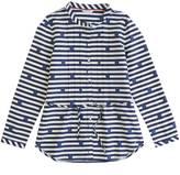 Nautica Girls' Dot Stripe Belted Tunic (8-16)