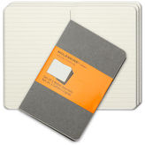 Moleskine NEW Cahier Pocket Ruled Journal Set 3pce Grey