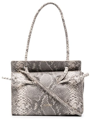 Yuzefi Snakeskin-Effect Leather Crossbody Bag