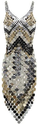 Paco Rabanne Sequined midi dress