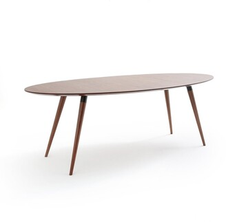 La Redoute Interieurs Watford Walnut Elliptical Dining Table (Seats 6-8)