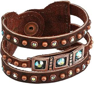 Leather Rock Opal Bracelet