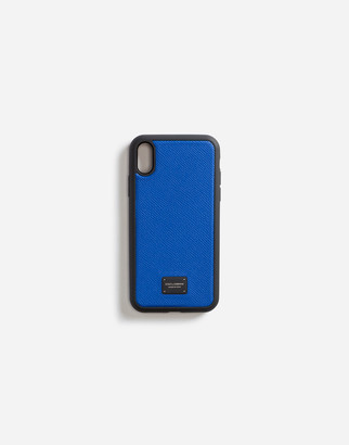 Dolce & Gabbana Dauphine Calfskin Iphone Xr Cover With Branded Plate