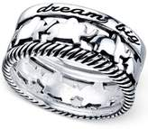 "Unwritten Dream Big"" Elephant Ring in Sterling Silver"