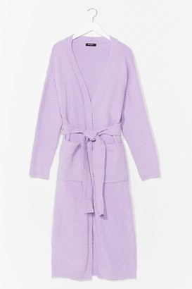 Nasty Gal Womens Thinking About You Belted Cardigan - Lilac
