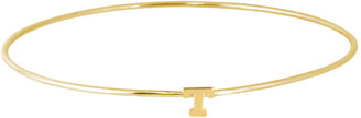 Jane Basch 14K & 14K Plated Initial Bangle (A-Z)