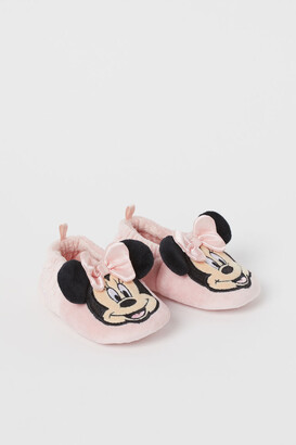 H&M Soft velour slippers - Pink