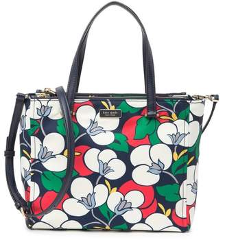 Kate Spade Medium Nylon Floral Satchel