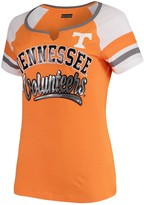 New Era Women's 5th & Ocean by Tennessee Orange Tennessee Volunteers Baby Jersey Split Scoop Neck Ringer T-Shirt