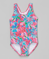 Kanu Surf Pink Floral Ariel One-Piece - Girls