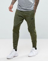 Nike Tech Knit Joggers In Tapered Fit In Green 832180-331