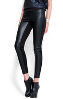 Leather effect leggings