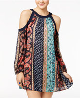 American Rag Printed Cold-Shoulder Dress, Only at Macy's