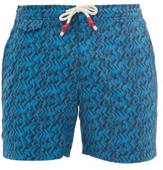 Orlebar Brown Standard Parquet-print Swim Shorts - Navy