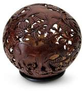 Coconut Shell Sculpture, 'Water Buffalo'