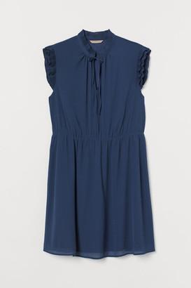 H&M H&M+ Chiffon Dress - Blue