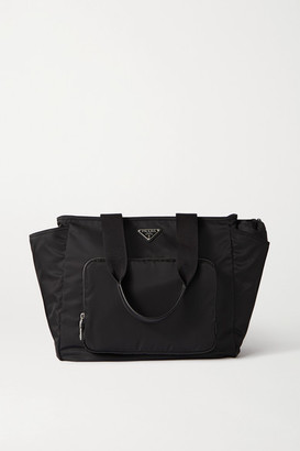 Prada Vela Leather-trimmed Nylon Tote - Black