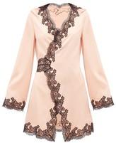 Agent Provocateur Amelea Lace-trimmed Silk-blend Pyjama Top - Womens - Black Pink