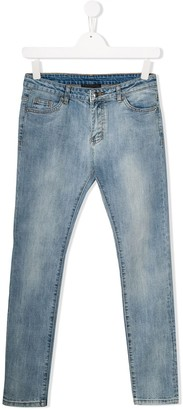 John Richmond Junior Rich print skinny jeans