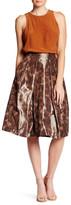 Pink Tartan Leopard Print Taffeta Midi Tabitha Skirt