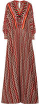 Missoni Embellished Metallic Crochet-knit Kaftan - Red