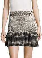 Roberto Cavalli Women's Animal Print Ruffled Mini Skirt