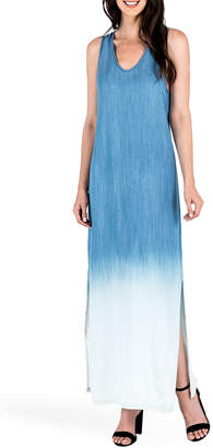 Standards & Practices Angie Ombre V-Neck Maxi Tank Dress