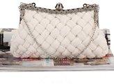 Chirrupy Chief®Pleated and Braided Women Clutch Purse Big Evening Clutch Bags