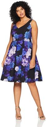 City Chic Women's Apparel Women's Plus Size Dress Hydrangea