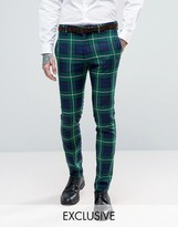 Religion Skinny Suit Pant in Check