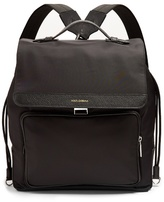 Dolce & Gabbana Leather-trimmed Canvas Backpack