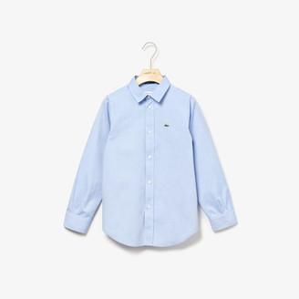 Lacoste Kids' shirt in Oxford cotton knit