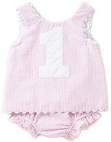 Mud Pie Baby Girls Striped One Top & Bloomer Set