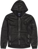 True Religion Moto Black Coated Cotton Sweatshirt