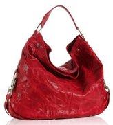 scarlet leather 'Nikki' shoulder bag