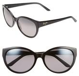 Maui Jim Women's 58Mm Polarizedplus Sunglasses - Black/ Charcoal/ Neutral Grey