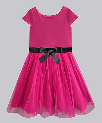 A.T.U.N. Girls' Casual Dresses Fuschia - Fuschia Melorra A-Line Dress - Infant, Toddler & Girls