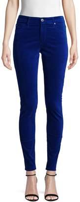 AG Jeans Farrah High-Rise Velvet Skinny Pants