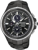 Seiko Men's Solar Chronograph Coutura Black Ion-Plated Stainless Steel Bracelet Watch 44mm SSC377