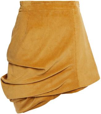Y/Project Draped Cotton-corduroy Mini Skirt